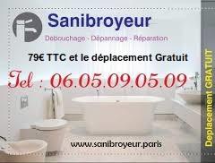 Sanibroyeur bouché prix : 79€ TTC.